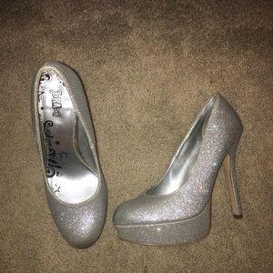 BRASH Silver High Heel Pumps